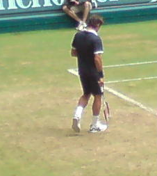 Roger Federer in Halle bei den Gerry Weber Open 2008